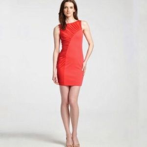 Halston Heritage Sheath Dress with Ruched Detail